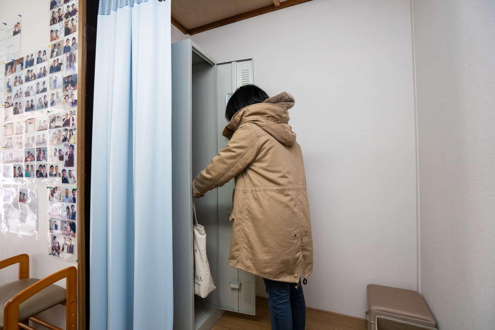 更衣室とロッカースペース