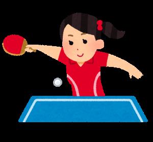 卓球女子アスリートのイメージ画像